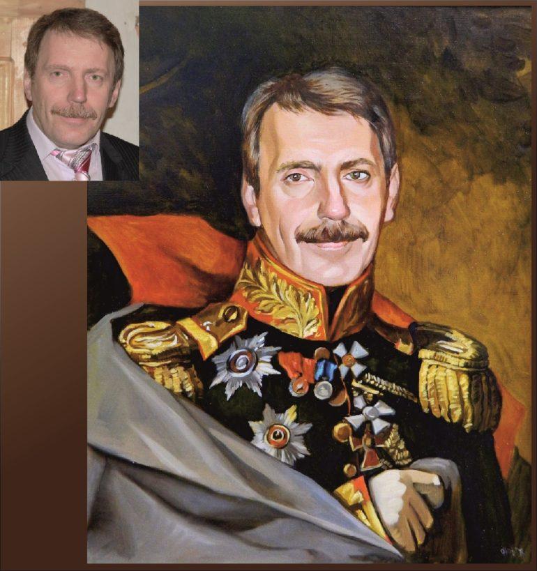 Настоящий портрет маслом на заказ в Кемерово…