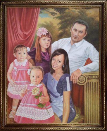 Семейный портрет маслом в Кемерово — правильная традиция…