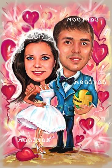 Свадебный шарж с оригинальным сюжетом в Кемерово!