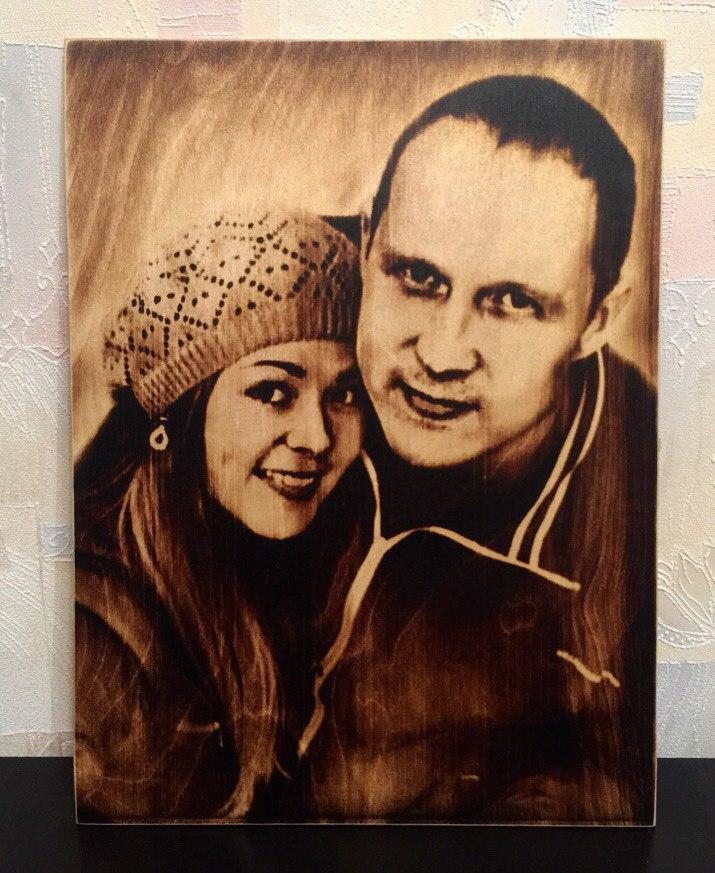 выжигание портретов по дереву на заказ в Кемерово