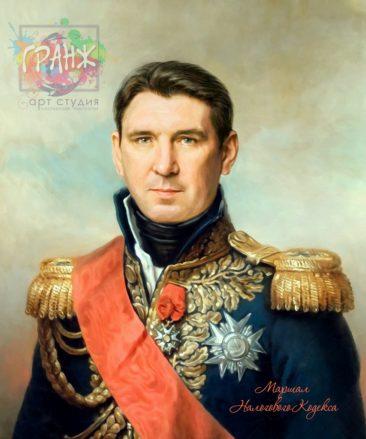 Портрет по фото на холсте в подарок мужчине на 23 февраля Кемерово