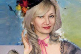Заказать арт портрет по фото на холсте в Кемерово