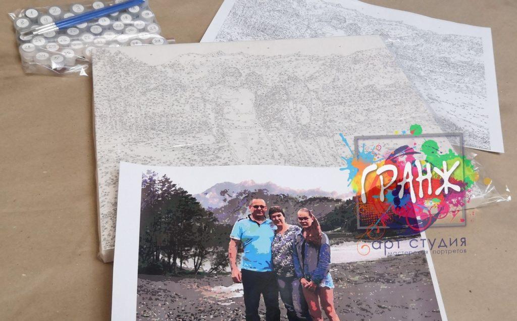 картин по номерам на холсте по фото Кемерово