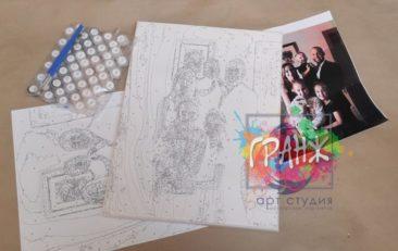 Картина по номерам по фото, портреты на холсте и дереве в Кемерово